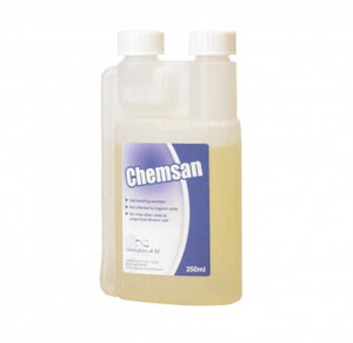Chemsan no rinse sanitiser - because it's handy to have spray bottle even though everything was already technically sanitised