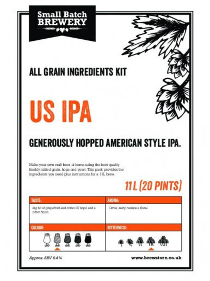 US IPA 11L All Grain Beer Kit