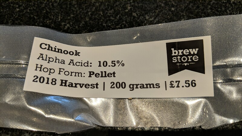 Brewday 3 - Chinook Hops Label