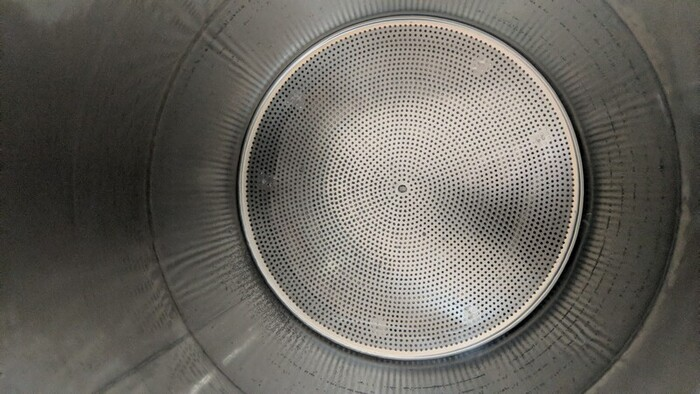 Shiny interior of the Grainfather mash tun