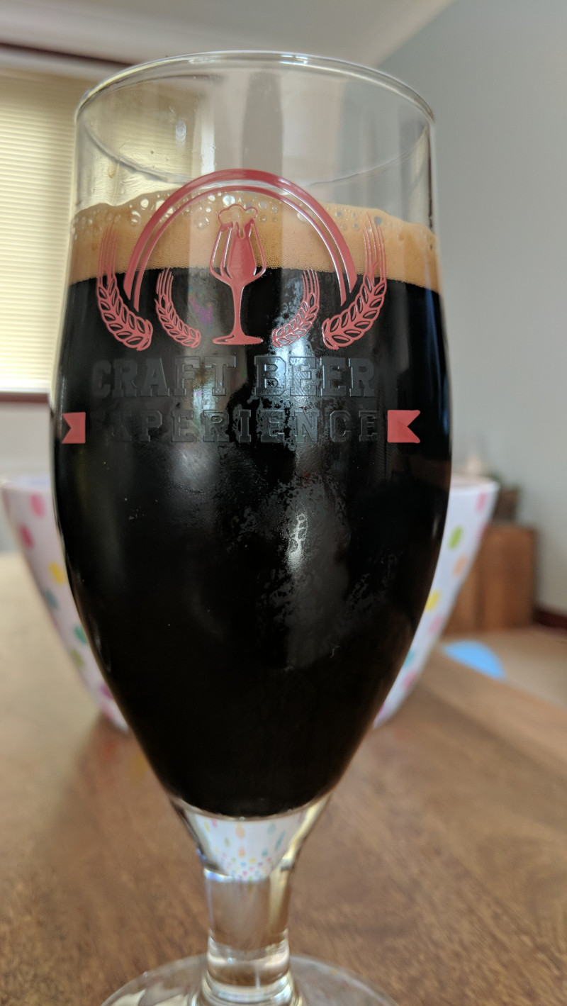 Photo of my first or perhaps second Imperial Stout