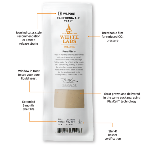 Purepitch Yeast Packet Front